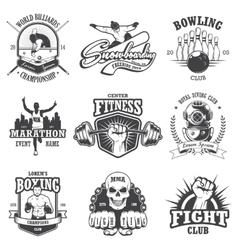 Set of vintage sports emblems vector