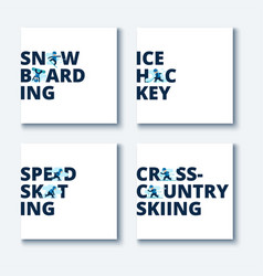 set winter games vector image