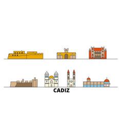 spain cadiz flat landmarks vector image