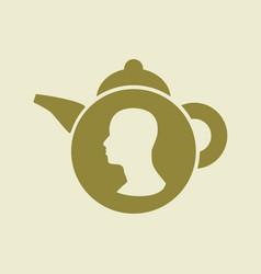 tea shop emblem vector image