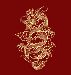 Traditional chinese dragon vector
