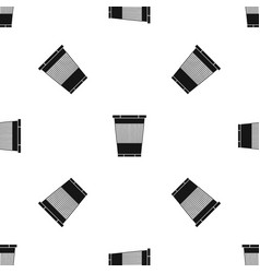 trash can pattern seamless black vector image