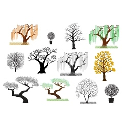 trees4 vector image