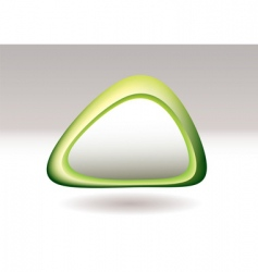 triangle pebble green vector image