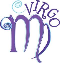 Virgo Zodiac vector