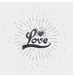 Word love badge lettering of emblem can be used to vector image