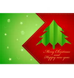 Xmas and new year card vector image