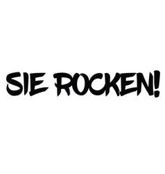 You rock stamp in german vector