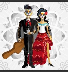 Dia de los muertos day of the dead bride vector