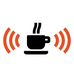 Free Wi-Fi zone in cafe vector image vector image