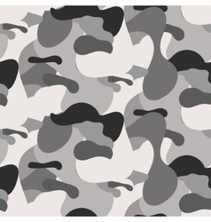Gray camouflage seamless pattern vector image