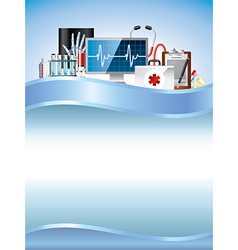medicine vertical background vector image vector image