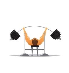 Cartoon weightlifter vector image