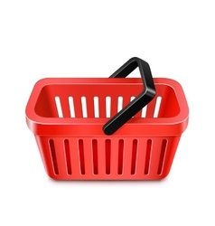 Red shopping basket vector image