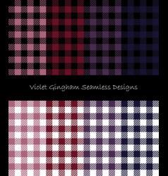 violet lumberjack pattern collection vector image