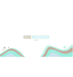 Abstract background header website green wave vector