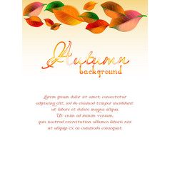 Abstract background with colorful autumn leaves vector