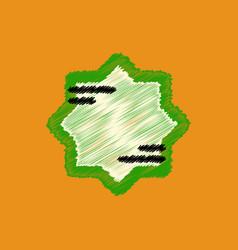 Flat icon design collection ramadan festival vector