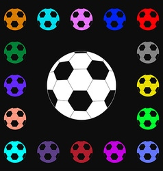 Football icon sign Lots of colorful symbols for vector image