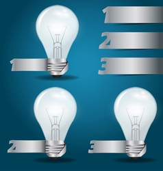 light bulb idea with modern template vector image vector image