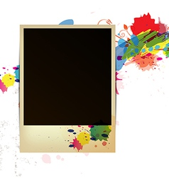 old frame on watercolor paint background vector image vector image