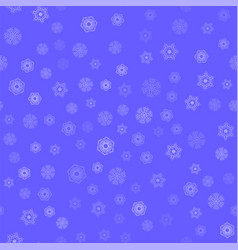 winter seamless snowflake pattern vector image vector image