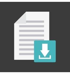 arrow download file icon vector image vector image