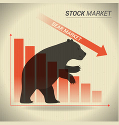 bear market concept presents stock market with vector image vector image