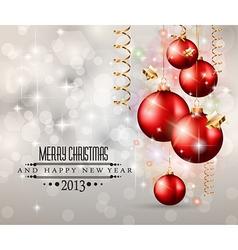 Elegant Classic Christmas Background vector image