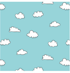 hand drawn clouds pattern vector image vector image