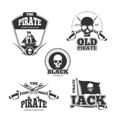 Pirate logo labels and badges Vintage vector image vector image