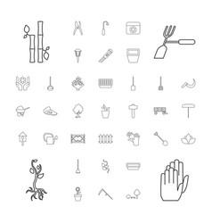 37 garden icons vector