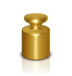 3d realistic metal golden calibration vector image