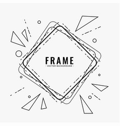 abstract line frame design background vector image