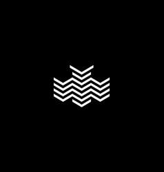 abstract owl logo design concept vector image