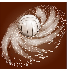 Abstract volleyball background vector