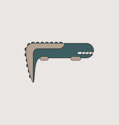 Adorable crocodile cartoon vector