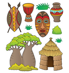 African thematics set 1 vector