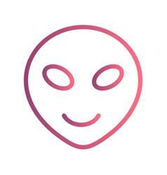 Alien emoji icon vector