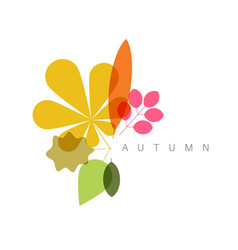 Autumn minimalist abstract floral background vector