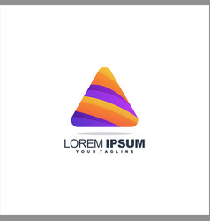 Awesome triangle gradient logo design vector