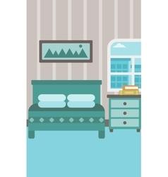 Background of bedroom vector image