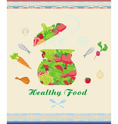 banner healthy food vector image