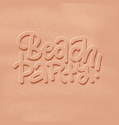 beach party banner new trendy realistic sand vector image