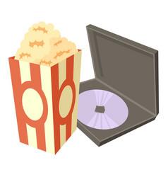 big popcorn icon cartoon style vector image