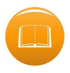 Book deployed icon orange vector