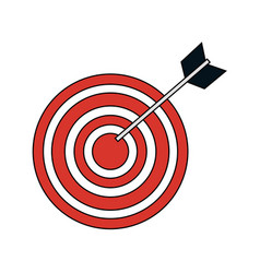 Bullseye target icon image vector