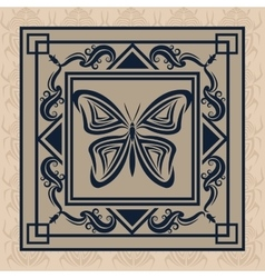 Butterfly tattoo animal design vector