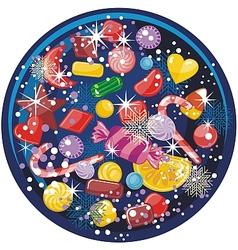 Candy Snow Globe vector