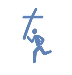 Christian movement symbol vector image